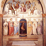 Pietro Perugino - Trinity and Six Saints 1521