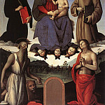 Pietro Perugino - Madonna and Child with Four Saints (Tezi Altarpiece) 1500