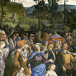 Pietro Perugino - The Circumcision of Moses's Son (detail)