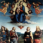 Pietro Perugino - Madonna in Glory with the Child and Saints 1595 6