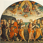Pietro Perugino - The Almighty with Prophets and Sybils 1500