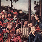 Pietro Perugino - Adoration of the Kings (Epiphany) c1476 detail1