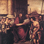 Sebastiano del Piombo - San Giovanni Crisostomo and Saints