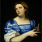 Sebastiano del Piombo - PORTRAIT OF A YOUNG WOMAN AS A WISE VIRGIN, C.