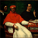 Sebastiano del Piombo - CARDINAL BANDINELLO SAULI, HIS SECRETARY, AND TWO