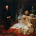 Adolph von Menzel - Seni by the Corpse of Wallenstein