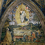 Pinturicchio (Bernardino di Betto) - Resurrection with Pope Alexander VI Borgia