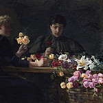 Johan Gustaf Sandberg - Ladies at a Flower-table