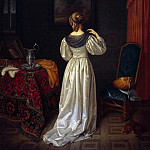 Albrecht Adam - The toilet of a lady