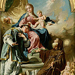 Giovanni Battista Pittoni - Madonna and Child Enthroned with St. Leonard and St. Francis of Paola