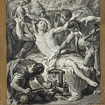 Giovanni Battista Pittoni - Sketch of the Martyrdom of St. Lawrence