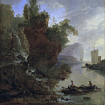 Johan Rohde - Bay with a Rocky Coast