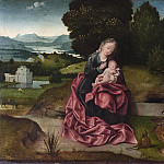 Alexander Roslin - Virgin and Child Resting during the Flight into Egypt [Attributed]