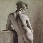 Pierre-Paul Prudhon - Standing Female Nude Seen from the Back