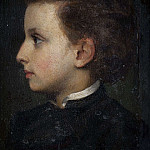 Alexander Roslin - Boy in profile. Study