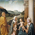 Niccolo (Niccolo da Foligno) Alunno - Holy Family with Saint Elizabeth and the Infant Saint John