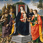 Bergognone (Ambrogio da Fossano) - Madonna and Child with Saints