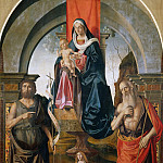 Giuseppe Cesari - Virgin and Child Enthroned between Saints John the Baptist and Jerome