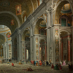 Interior of Saint Peter s, Rome, Giovanni Paolo Panini