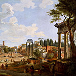 View of the Roman Forum, Giovanni Paolo Panini