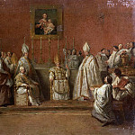 Giovanni Paolo Panini - CEREMONY WITH POPE BENEDICT XIV