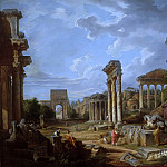 A Capriccio of the Roman Forum, Giovanni Paolo Panini