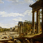 Elihu Vedder - View of the Roman Forum, 1735