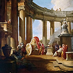 Alexander cuts the Gordian knot, Giovanni Paolo Panini