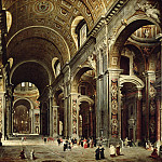 Giovanni Paolo Panini - Cardinal Melchior de Polignac Visiting St Peters in Rome, 1730