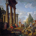 Giovanni Paolo Panini - A sibyl preaching in the ruins