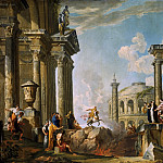 Giovanni Paolo Panini - The Death Leap of Marcus Curtius