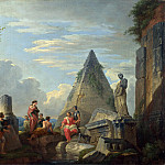 Giovanni Paolo Panini - Ruins with Figures, 1730