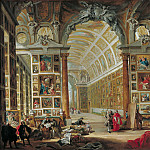 Giovanni Paolo Panini - The Gallery of Cardinal Silvio Valenti-Gonzaga in Rome