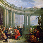 A concert in the circular colonnade of Doric style, Giovanni Paolo Panini