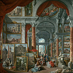 Giovanni Paolo Panini - Gallery with views of modern Rome