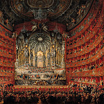 Giovanni Paolo Panini - Concert given by Cardinal de La Rochefoucauld at the Argentina Theatre in Rome, 1747