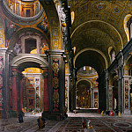 Giovanni Paolo Panini - Rome - The Interior of St Peter's, 1742