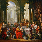 Feast under an Ionic portico, Giovanni Paolo Panini