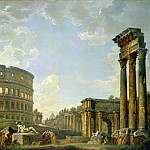 Giovanni Paolo Panini - The Colosseum and other Monuments
