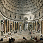 Interior of the Pantheon, Rome, Giovanni Paolo Panini
