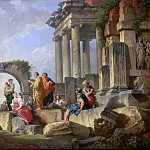 Giovanni Paolo Panini - Ruins with the Apostle Paul preaching