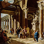Giovanni Paolo Panini - Alexander the Great Cutting the Gordian Knot
