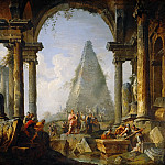 Giovanni Paolo Panini - Alexander the Great before the tomb of Achilles