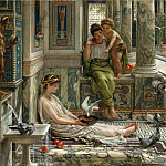 Edward John Poynter - THE CORNER OF THE VILLA