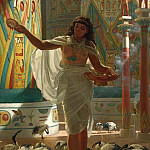 Edward John Poynter - Feeding the Scared Ibis in the Halls of Karnac