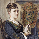 Edward John Poynter - The Peacock Fan: Portrait of Elizabeth Courtauld