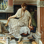 "Edward John Poynter - Chloe Dulcis Docta Modos et Citherae Sciens (From Horace, ""Odes"", Book 3, no. 9: Chloe skilled in sweet measures & mistress of the lyre)"