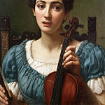 The violinist, Edward John Poynter