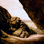 The cave at Tintagel, Edward John Poynter