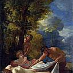 Nymph with Satyrs, Nicolas Poussin